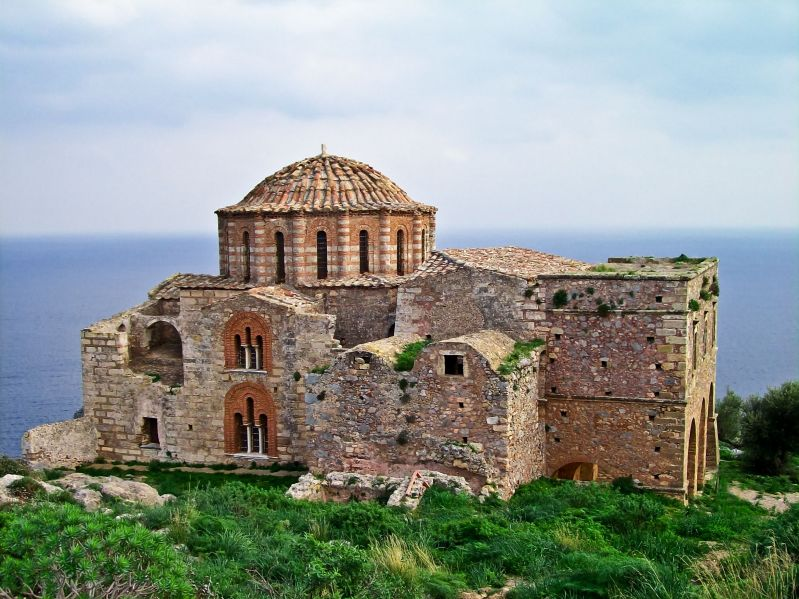 4952125 - agia sophia 13th century byzantine church, monemvasia, greece
